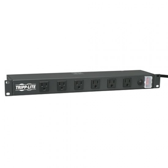 Tripp Lite Rackmount Network-Grade PDU Power Strip, 12 Right Angle Outlets Wide-Spaced, 15A, 15ft Cord w/ 5-15P Plug (RS1215-RA)