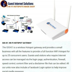 GIS-K1 Wireless Internet Hotspot gateway
