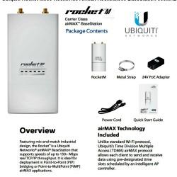 Ubiquiti ROCKETM900 900MHz Hi Power 2x2 MIMO AirMax TDMA