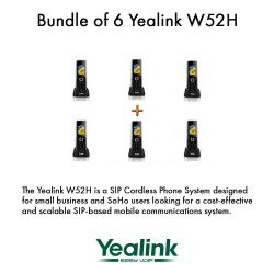 Yealink W52H - Bundle of 6 SIP Cordless Phone System for business solutions