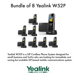 Yealink W52P - Bundle of 8 Cordless Phone System for business solutions