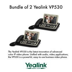 """Yealink VP530 Bundle of 2 Business Video Phone 7"""" Touchscreen 4 VoIP Account"""
