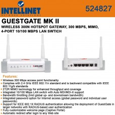 Intellinet Network Solutions - Intellinet Guestgate Mkii Wireless Hotspot Gateway - Protect Your Network While Providing Secure Internet Access To Guests Through Layer-3 Client Isolation Technology. Product Category: Wireless Devices/Wireless Routers