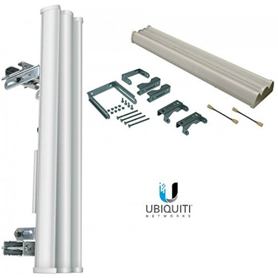 Ubiquiti AM-2G15-120 2x2 MIMO BaseStation Sector Antenna - Range - UHF - 2.30 GHz to 2.70 GHz - 16 dBi - Base Station - Sector