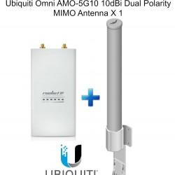Ubiquiti RocketM5 Outdoor BaseStation X 1 + Omni AMO-5G10 10dBi Dual Antenna X 1