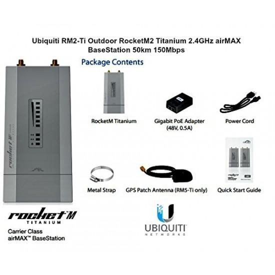 UBIQUITI NETWORKS RM2-TI US Ubiquiti RM2-Ti US Version Outdoor RocketM2 Titanium 2.4GHz airM Microcom: Ubiquiti Networks RM2-TI US$229