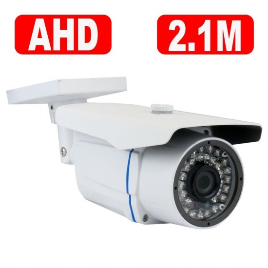 GW Security New AHD 8 Channel 1080P DVR Video Surveillance Camera System 8 1080P 2.1 Megapixel Outdoor/Indoor Weatherproof IR Night Vision Bullet and Dome Security Camera
