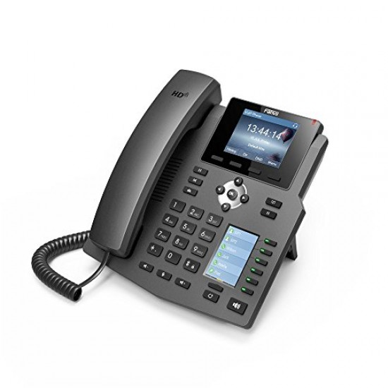 Fanvil X4G Gigabit SIP Enterprise Desktop Phone with Dual-Color LCD Display