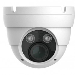 IP PoE Starlight Eyeball Dome HD Security Camera CCTV - H.264, 2.1MP, 1920x1080, Indoor Outdoor, Digital WDR, IP66 Weatherproof, IR Night Vision US-IP-IRD2M02VF-W